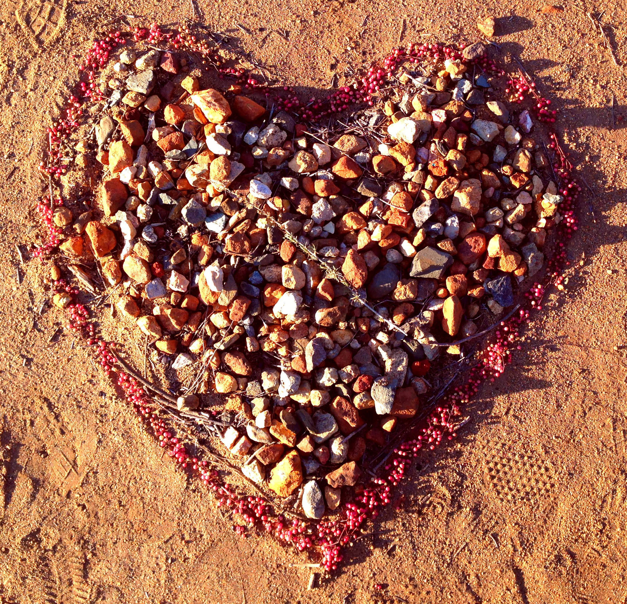 Heart made of stones © Kristy Arbon